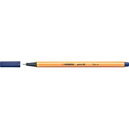 STABILO Fineliner point 88, Strichstärke: 0,4 mm, nachtblau