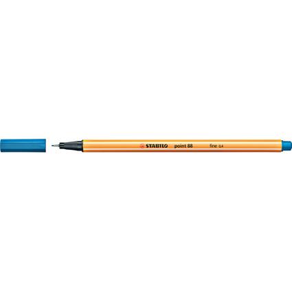 STABILO Fineliner point 88, Strichstärke: 0,4 mm, mittelblau