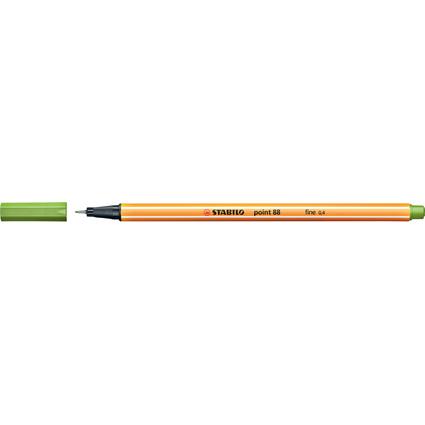STABILO Fineliner point 88, Strichstärke: 0,4 mm, apfelgrün
