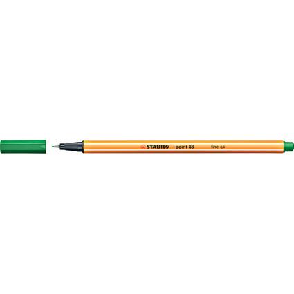 STABILO Fineliner point 88, Strichstärke: 0,4 mm, grün