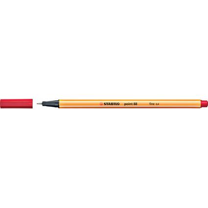 STABILO Fineliner point 88, Strichstärke: 0,4 mm, rot