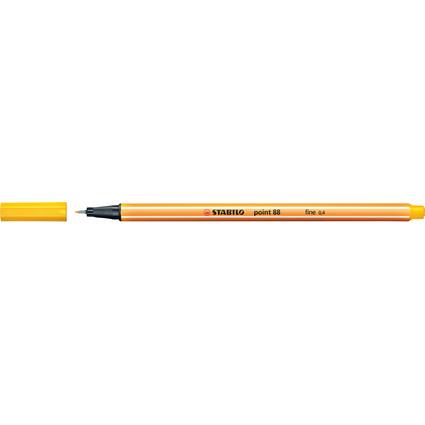 STABILO Fineliner point 88, Strichstärke: 0,4 mm, gelb