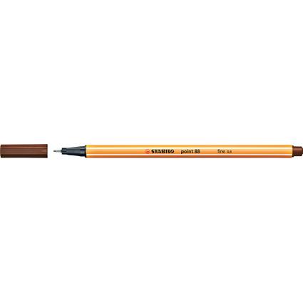 STABILO Fineliner point 88, Strichstärke: 0,4 mm, braun