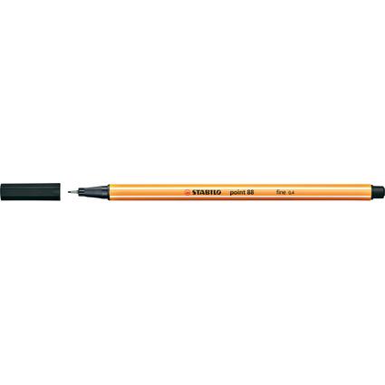 STABILO Fineliner point 88, Strichstärke: 0,4 mm, schwarz