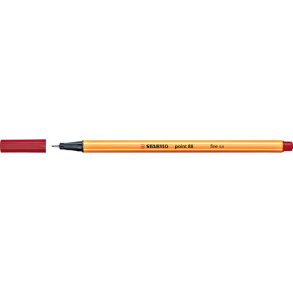 STABILO Fineliner point 88, Strichstärke: 0,4 mm, dunkelrot