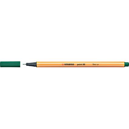 STABILO Fineliner point 88, Strichstärke: 0,4 mm, tannengrün
