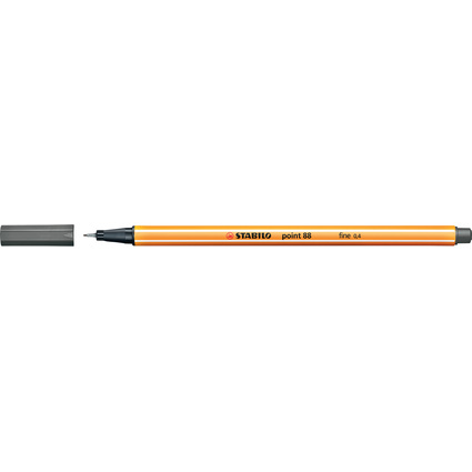 STABILO Fineliner point 88, Strichstärke: 0,4 mm, dunkelgrau