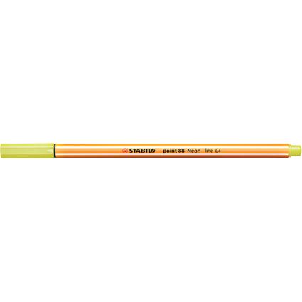 STABILO Fineliner point 88, Strichstärke: 0,4 mm, neongelb