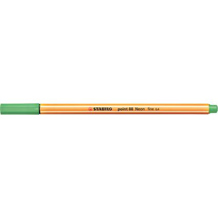STABILO Fineliner point 88, Strichstärke: 0,4 mm, neongrün