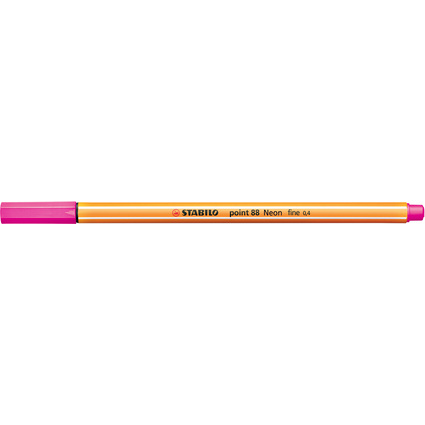 STABILO Fineliner point 88, Strichstärke: 0,4 mm, neonpink