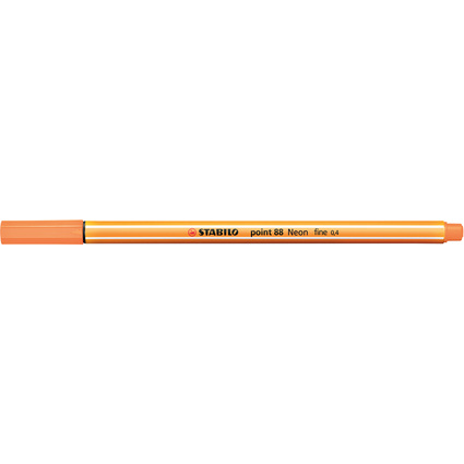 STABILO Fineliner point 88, Strichstärke: 0,4 mm, neonorange