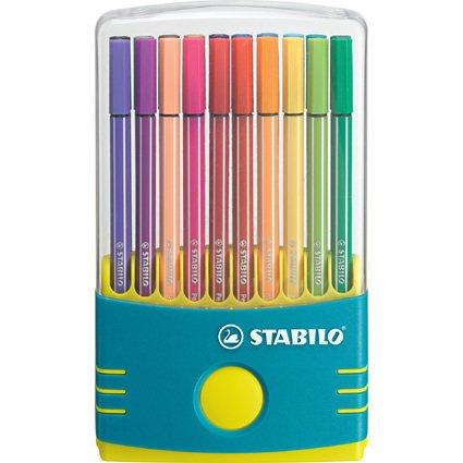 STABILO Fasermaler Pen 68, 20er ColorParade, türkis