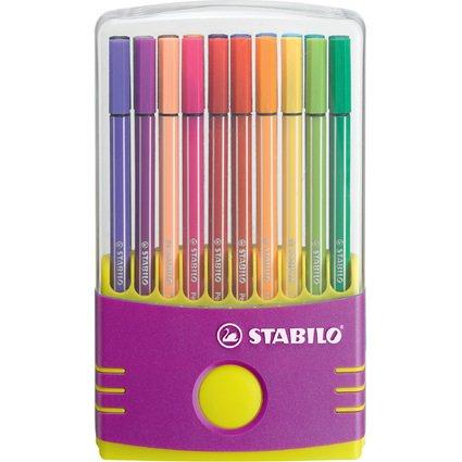 STABILO Fasermaler Pen 68, 20er ColorParade, lila