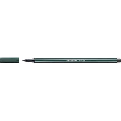 STABILO Fasermaler Pen 68, Strichstärke: 1,0 mm, grünerde