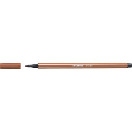 STABILO Fasermaler Pen 68, Strichstärke: 1,0 mm, siena