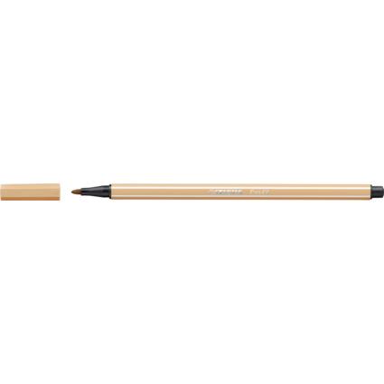 STABILO Fasermaler Pen 68, Strichstärke: 1,0 mm, ocker hell