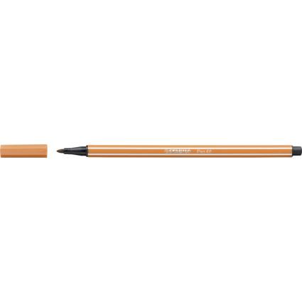 STABILO Fasermaler Pen 68, Strichstärke: 1,0 mm ocker dunkel