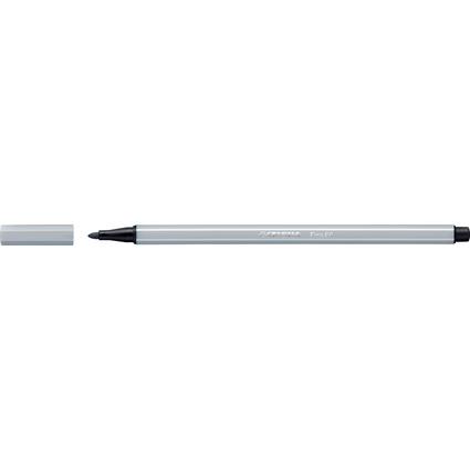 STABILO Fasermaler Pen 68, Strichstärke: 1,0 mm, hellgrau
