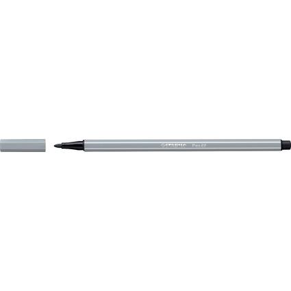 STABILO Fasermaler Pen 68, Strichstärke: 1,0 mm, mittelgrau