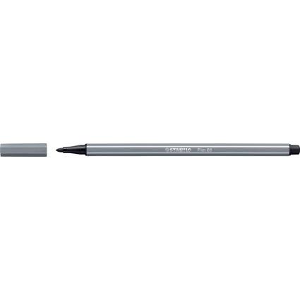 STABILO Fasermaler Pen 68, Strichstärke: 1,0 mm, dunkelgrau