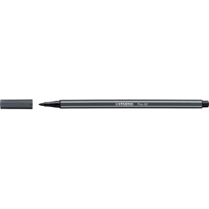 STABILO Fasermaler Pen 68, Strichstärke: 1,0 mm, schwarzgrau