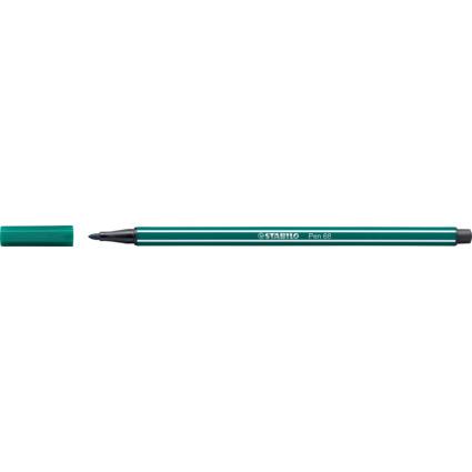 STABILO Fasermaler Pen 68, Strichstärke: 1,0 mm, blaugrün