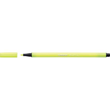 STABILO Fasermaler Pen 68, Strichstärke: 1,0 mm, neongelb