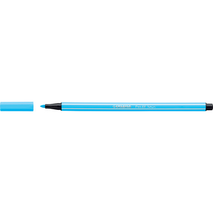 STABILO Fasermaler Pen 68, Strichstärke: 1,0 mm, neonblau