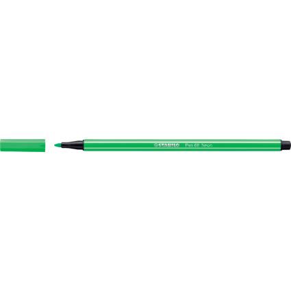 STABILO Fasermaler Pen 68, Strichstärke: 1,0 mm, neongrün