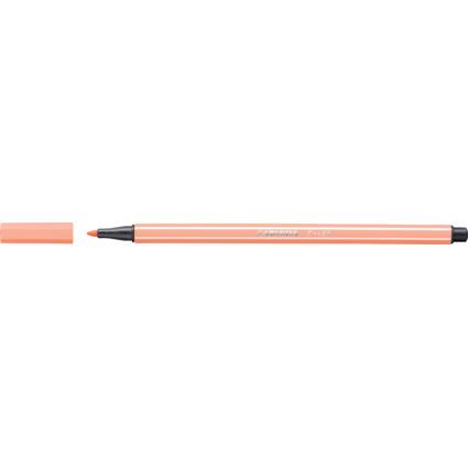 STABILO Fasermaler Pen 68, Strichstärke: 1,0 mm, hellrosa