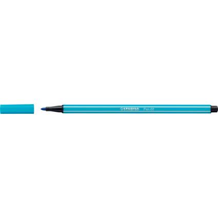 STABILO Fasermaler Pen 68, Strichstärke: 1,0 mm, hellblau