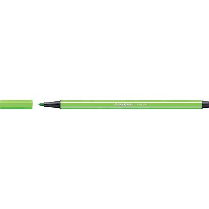 STABILO Fasermaler Pen 68, Strichstärke: 1,0 mm, hellgrün
