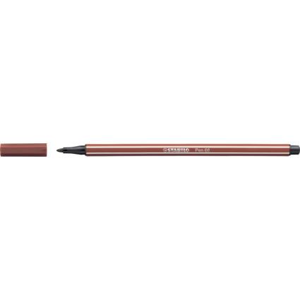 STABILO Fasermaler Pen 68, Strichstärke: 1,0 m, rötel