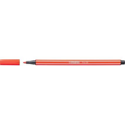 STABILO Fasermaler Pen 68, Strichstärke: 1,0 mm, hellrot