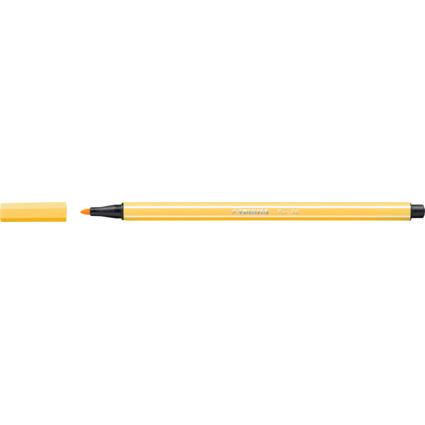 STABILO Fasermaler Pen 68, Strichstärke: 1,0 mm, gelb