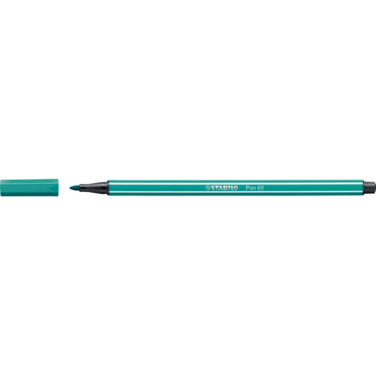 STABILO Fasermaler Pen 68, Strichstärke: 1,0 mm, türkisblau