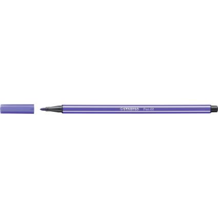 STABILO Fasermaler Pen 68, Strichstärke: 1,0 mm, violett