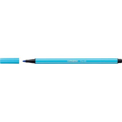 STABILO Fasermaler Pen 68, Strichstärke: 1,0 mm, azurblau