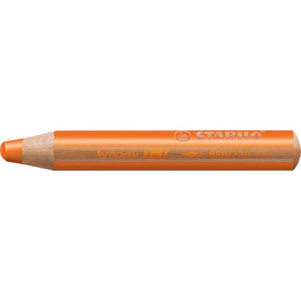 STABILO Multitalentstift woody 3 in 1, rund, orange