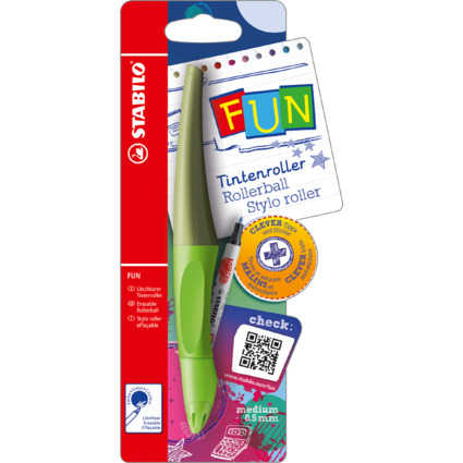 STABILO Tintenroller FUN, limettengrün/khaki