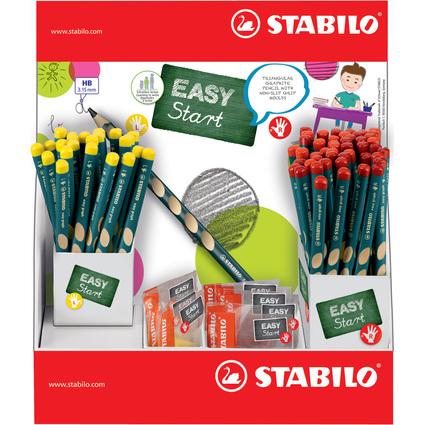 STABILO Bleistift EASYgraph, 72 Stifte + 12 Spitzer, Display
