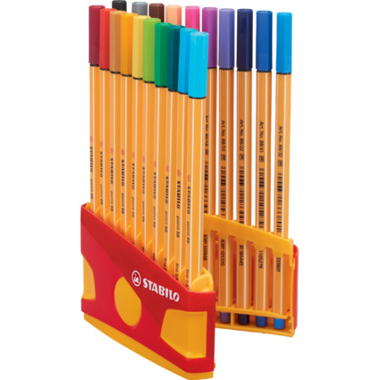 STABILO Fineliner point 88, 20er ColorParade