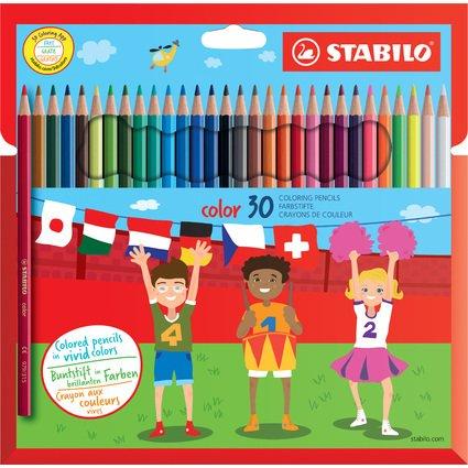 STABILO Buntstifte color, sechseckig, 30er Karton-Etui