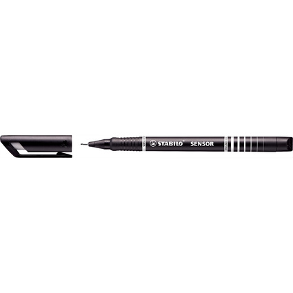 STABILO Fineliner sensor, Strichstärke: 0,3 mm, schwarz