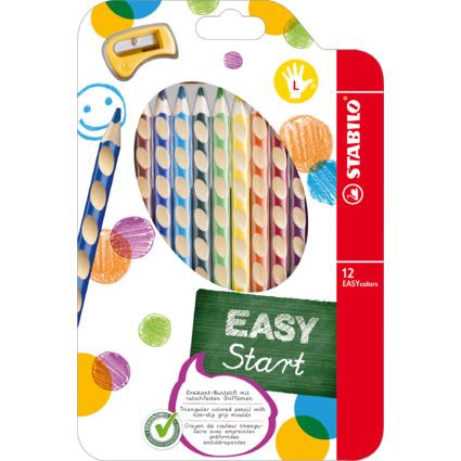 STABILO Dreikant-Buntstifte EASYcolors, 12er Etui