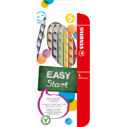 STABILO Dreikant-Buntstifte EASYcolors, 6er Etui