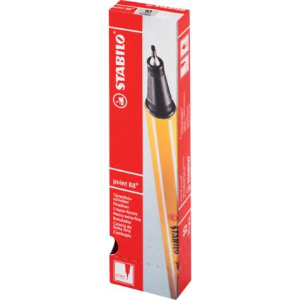STABILO Fineliner point 88, Strichstärke: 0,4 mm, hellgrün
