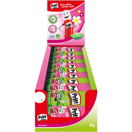 Pritt Klebestift Grün & Pink, 10 g, 30er Display