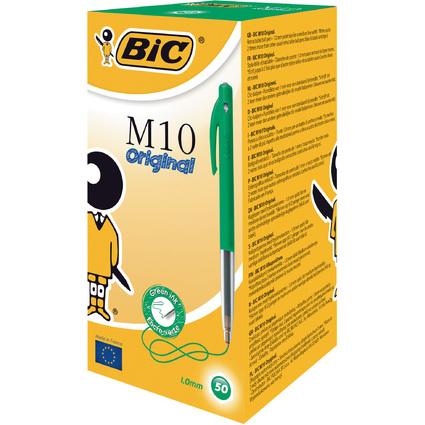BIC Druckkugelschreiber M10, Strichfarbe: grün