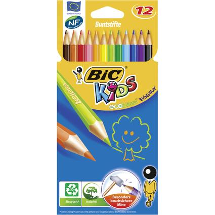 BIC KIDS Buntstifte Evolution ecolutions, 12er Kartonetui